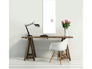 EUROART Memo Board 30 x 80 cm White /Weiß, Glas
