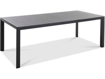 Gartentisch Deluxe Alu 220x100 /Hellgrau, 220 x 100 cm Aluminium