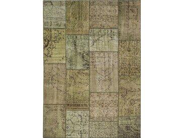 Vintage Teppich Patchwork 120 x 180 cm /Pistazie, Mischgewebe