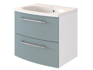 Held-Möbel Waschtisch-Set Genua /Fjordgrün / Weiß