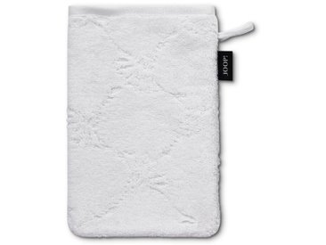 JOOP! Waschhandschuh Cornflower 16 x 22 cm /Weiß, Baumwolle