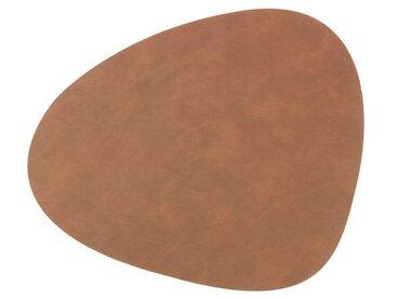 LINDDNA Tischset Curve L Nupo /Braun, Leder