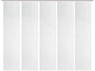 Schmidt Schiebewand Rom 5er-Set /Weiß, 60 x 260 cm Polyester