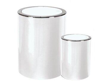 Kleine Wolke Kosmetikeimer-Set Clap 2-tlg. /Weiß, Kunststoff