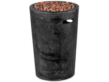 Clifton Terrassenfeuer Gaskamin Round Slate /Anthrazit, 45 cm