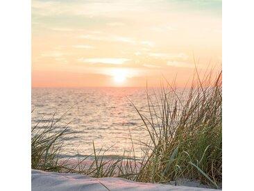 EUROART Glasbild 20 x cm Sunset at the Beach IV /Orange, Glas