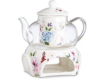 Teeset 3tlg. /Rosa, Porzellan