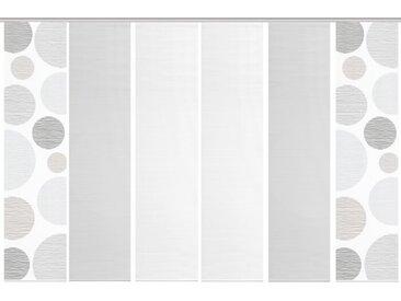 Schmidt Schiebewand Borden 6er-Set /Grau, 60 x 260 cm Polyester