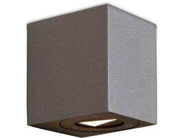 Nordlux LED-Außenwandleuchte Canto Kubi /Grau, Aluminium
