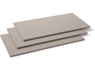 Einlegeboden Zubehör 3er Set /Grau, 88 cm Kunststoff