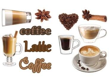 EUROART Sticker 25 x 35 cm Coffee III /Braun, Kunststoff