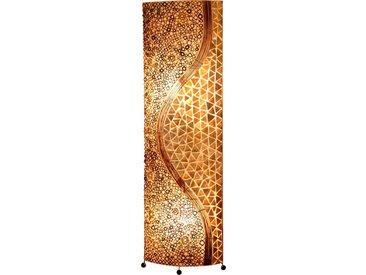 Globo Stehlampe MUSCHEL, Holz, Textil, Natur