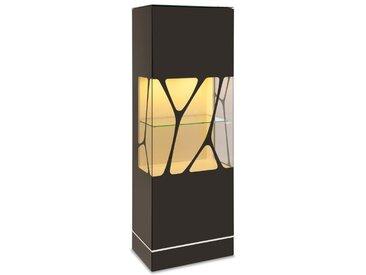 Leonardo Living Vitrine Cube /Schwarz, Glas