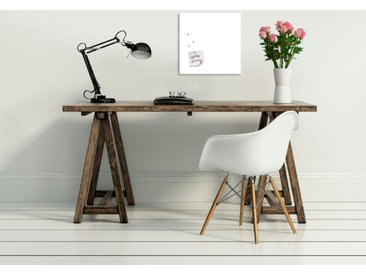 EUROART Memo Board 30 x cm White /Weiß, Glas