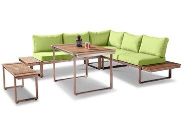 Loungemöbel Set Lanciano 5tlg. /Grün, Aluminium