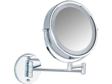 WENKO Kosmetikspiegel Lumi /Silber, Stahl