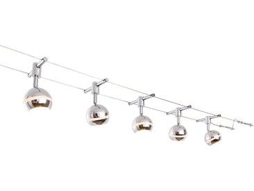 Trio LED-Seilsystem Baloubet, Chrom, Alu, Nickel, Stahl
