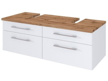 Held-Möbel Waschtischunterschrank Davos /Weiß