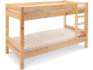 BEGABINO Etagenbett Eddi 90 x 200 cm /Kiefer, Holz