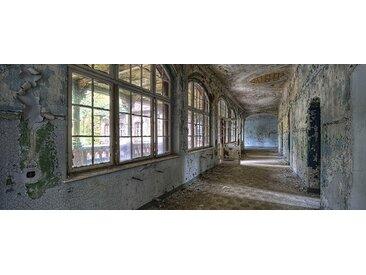 EUROART Glasbild 50 x 125 cm Lost Hallway /Grau, Glas
