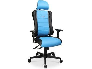 Sitness Drehstuhl RS /Blau, Lederoptik