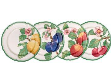 Villeroy & Boch Speiseteller Modern Fruits 4tlg. /Grün, Porzellan