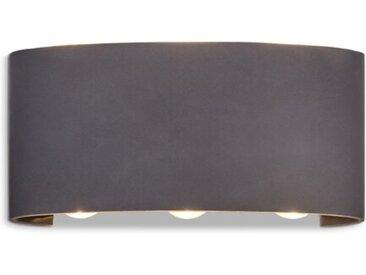 DesignLive LED-Außenwandleuchte ANTWERP /Anthrazit, Alu, Eisen,