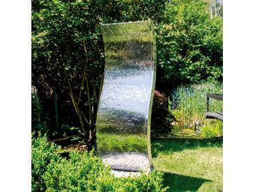 KÖHKO Gartenbrunnen Otter /Silber, Edelstahl