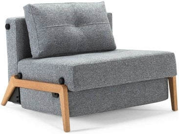 INNOVATION Schlafsessel Cubed 90 Eiche /Granit, Stoff