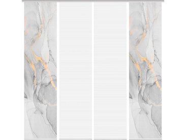 Schmidt Schiebewand Marmosa 4er-Set /Grau, Polyester