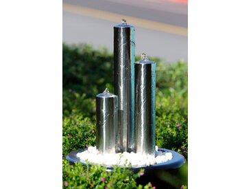 KÖHKO Gartenbrunnen Ionic /Silber, Edelstahl