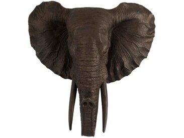 DAHEIM Deko-Objekt Elefant 43 cm /Braun, Polyresin