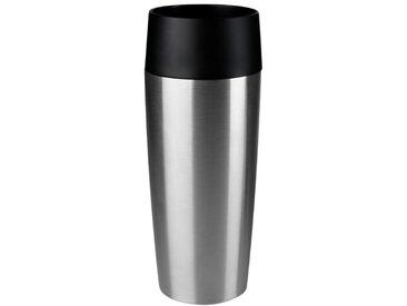 emsa Isolierbecher Travel Mug 360 ml /Silber, Edelstahl