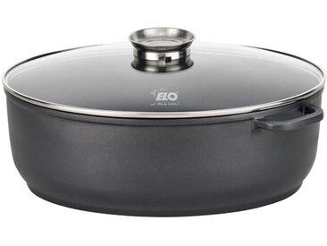 ELO Bräter mit Deckel Alucast oval /Schwarz, 38 cm Aluminium