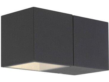 AEG LED-Außenwandleuchte Daveen, Alu, Eisen, Stahl & Metall