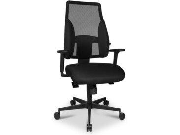 Sitness Drehstuhl Profi Comfort /Schwarz, Stoff