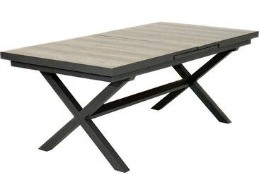 Gartentisch ausziehbar Madison 200-260 x 100 cm /Grau / Beige,