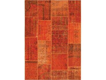 Vintage Teppich Patchwork 120 x 180 cm /Orange, Mischgewebe
