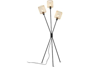Reality Leuchten Stehlampe Sela /Schwarz, Alu, Eisen, Stahl &