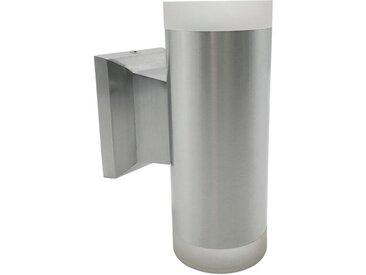 DesignLive LED-Außenwandleuchte Bröl /Silber, Aluminium
