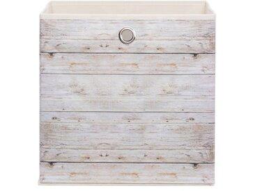 Faltbox Motiv A1 /Weiß / Eiche, Stoff