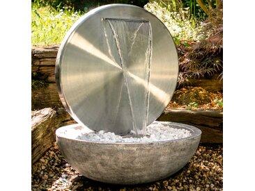 KÖHKO Gartenbrunnen Bocca /Silber, Edelstahl