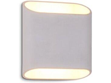DesignLive LED-Außenwandleuchte AVENUE /Weiß, Alu, Eisen, Stahl &
