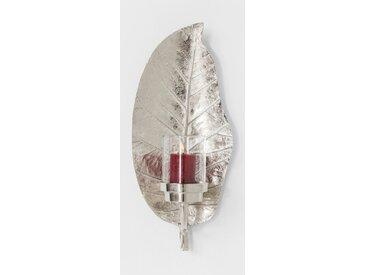 KARE Windlicht Leaf /Silber, Glas