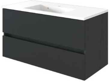 Held-Möbel Waschtischunterschrank Baabe /Graphit, 100 cm