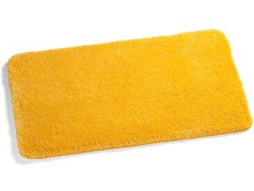 Kleine Wolke Badteppich Relax 85 x 150 cm /Gelb, Polyacryl