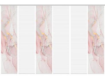 Schmidt Schiebewand Marmosa 6er-Set /Rose, Polyester