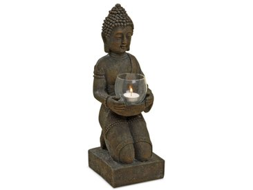 BOLTZE Windlicht Buddha 44 cm, Kunststoff