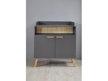 trendteam Wickelkommode Mats /Grau, Holz