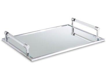 Tablett 51 x 37 cm /Silber, Edelstahl